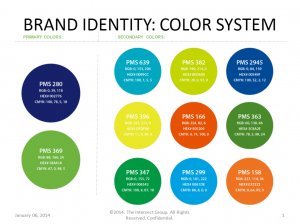 brand identity color sample